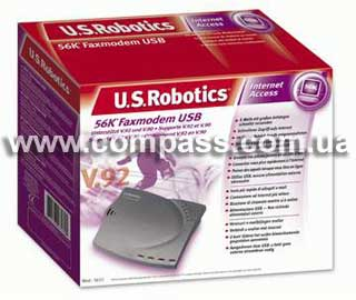 New us robotics 5637 v92 56k external usb high performance fax modem
